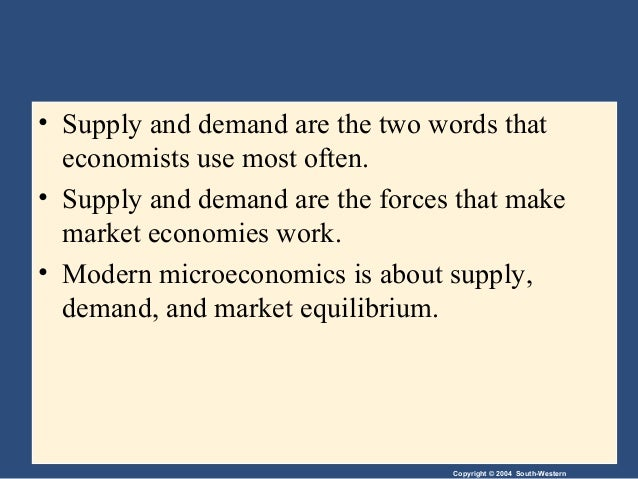 Market forces demands and supply
