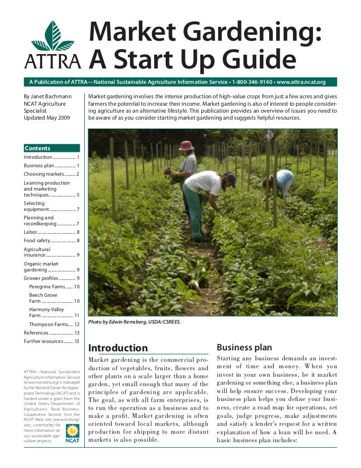 Market Gardening:                                              A Start Up Guide    A Publication of ATTRA—National Sustain...