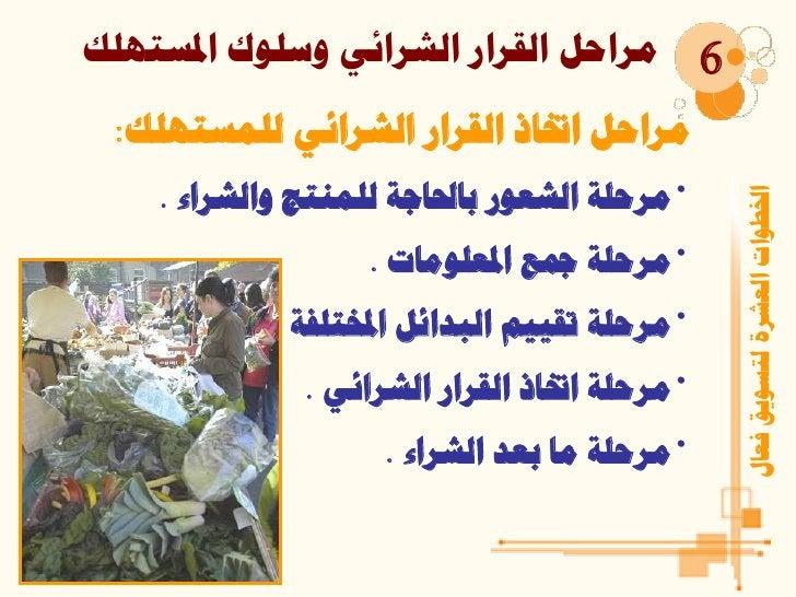 ِشازً اٌمشاس اٌششائٟ ٚعٍٛن ادلغزٍٙه           6 ِشازً ازببر اٌمشاس اٌششائٟ ٌٍّغزٍٙه:    •ِشزٍخ اٌشمٛس ثبحلبخخ ٌٍّٕز...