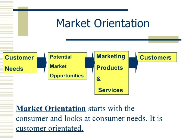 advantages and disadvantages of marketing orientation A market orientation is a business philosophy whereby a company's primary focus is learning the known and undiscovered needs of its customer market and attempting to provide for them this is.
