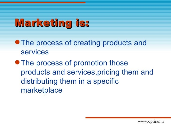 Marketing in optical businesses