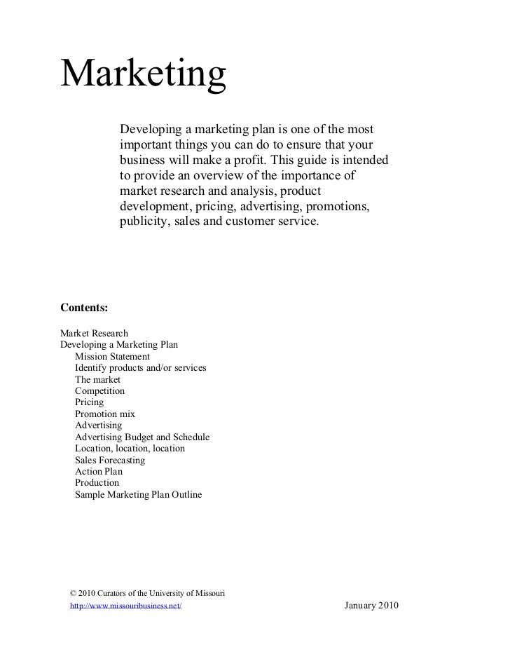 Marketing                Developing a marketing plan is one of the most                important things you can do to ensu...