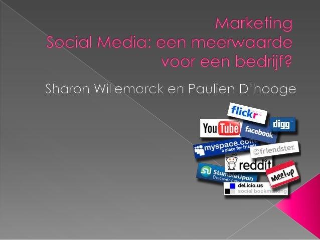  Social Media: meerwaarde voor een  bedrijf of niet? Toepassing op een bedrijf Onderzoek toeristische bedrijven op  Fac...