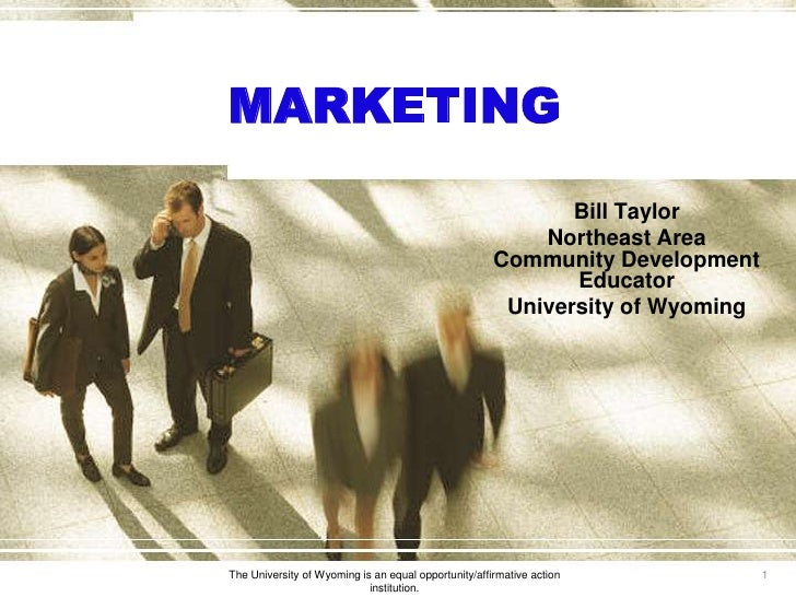 MARKETING                                                              Bill Taylor                                        ...