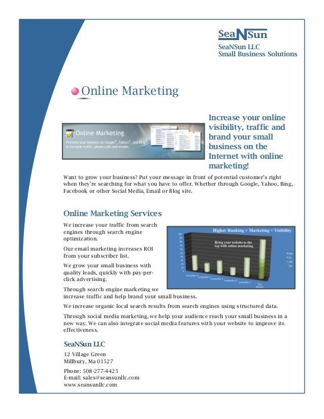 12 Village GreenMillbury, Ma 01527SeaNSun LLCSmall Business SolutionsIncrease your onlinevisibility, traffic andbrand your...