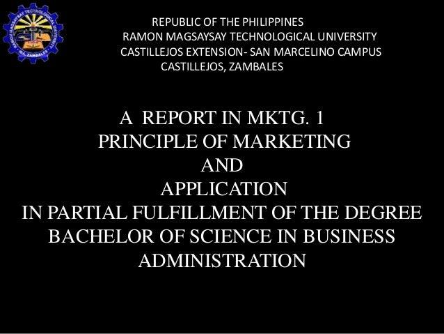 REPUBLIC OF THE PHILIPPINES RAMON MAGSAYSAY TECHNOLOGICAL UNIVERSITY CASTILLEJOS EXTENSION- SAN MARCELINO CAMPUS CASTILLEJ...