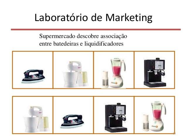 Laboratório de Marketing 10 Supermercado descobre associação entre batedeiras e liquidificadores