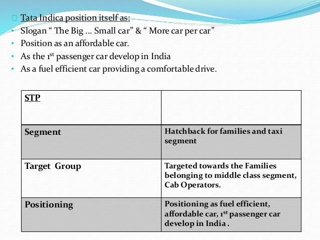 segmentation targeting and positioning tata safari dicor Tata safari stp segment suv for families target group targeted towards the  families belonging to upper middle class segment positioning positioned as a.