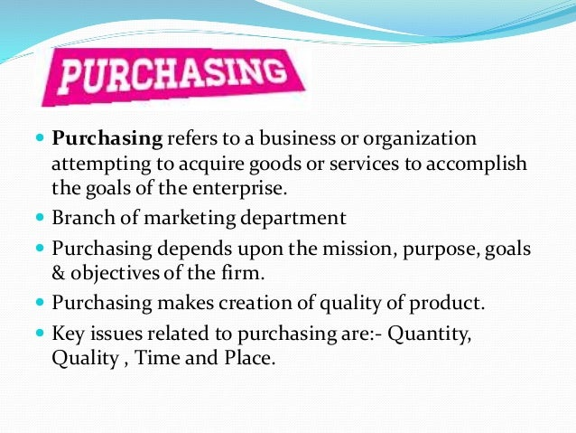 the relationship between purchasing department and other department essay The collaborative relationship between marketing and purchasing  long pitted against each other as the montagues and capulets of the business world, both departments have merrily driven forward .