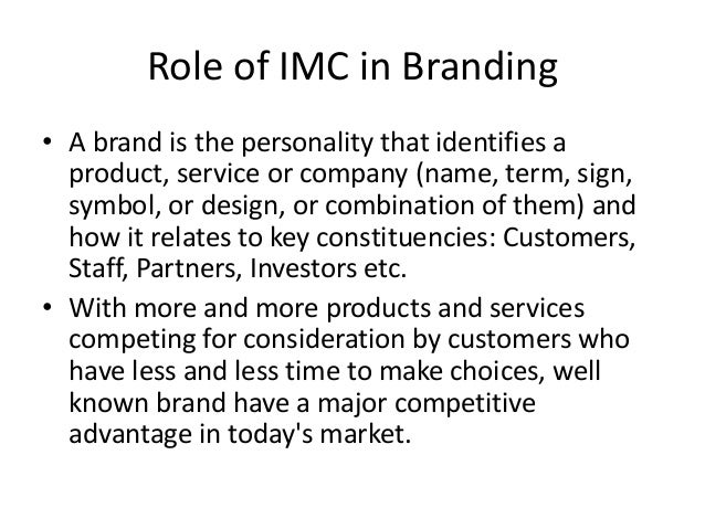 major program elements of the imc campaign Integrated marketing communications  chelsea what are imc objectives  8 major elements of marketing communication & imc.