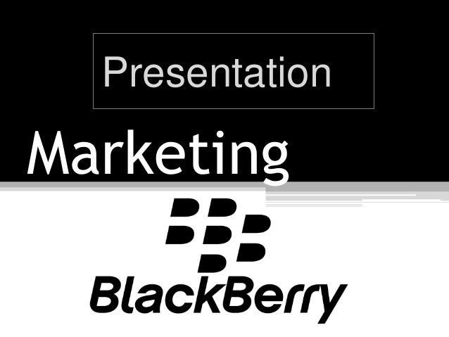 Marketing blackberry cell phones