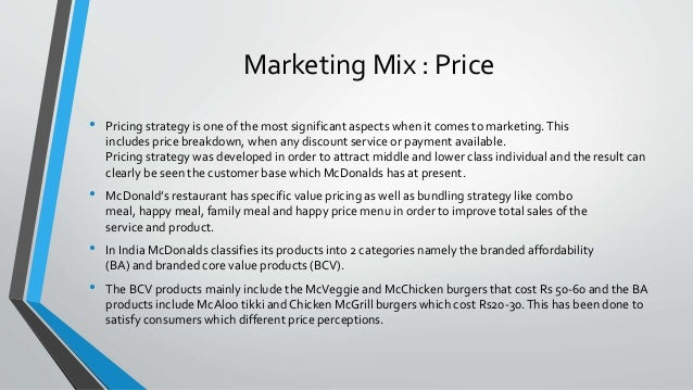mcdonald s pricing strategy for a new A study of the marketing strategies of mcdonald's with special reference to indore do you think the general price level of mcdonald's service is acceptable.