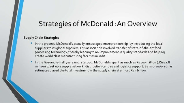 marketing strategies of mcdonalds in india Marketing strategies of mcdonalds  segmentation strategies and marketing strategies  chapter 03 mcdonalds in india.