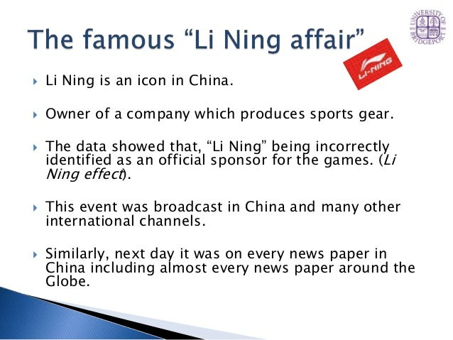 marketing analysis of li ning Li ning--anything is possible case solution,li ning--anything is possible case analysis, li ning--anything is possible case study solution, leading sporting goods company in china competes aggressively against global brands nike and adidas, with marketing strategies adapted to the geographical.