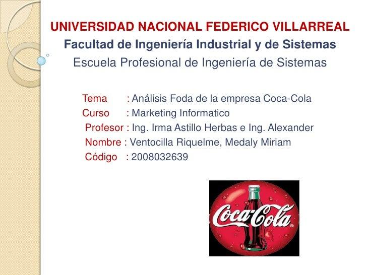 Universidad nacional Federico Villarreal<br />Facultad de Ingeniería Industrial y de Sistemas<br />Escuela Profesional de ...