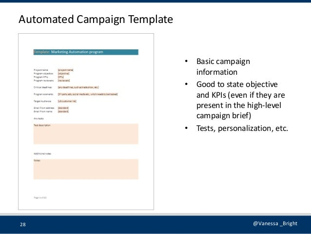 Marketing automation templates for Marketing campaign brief template