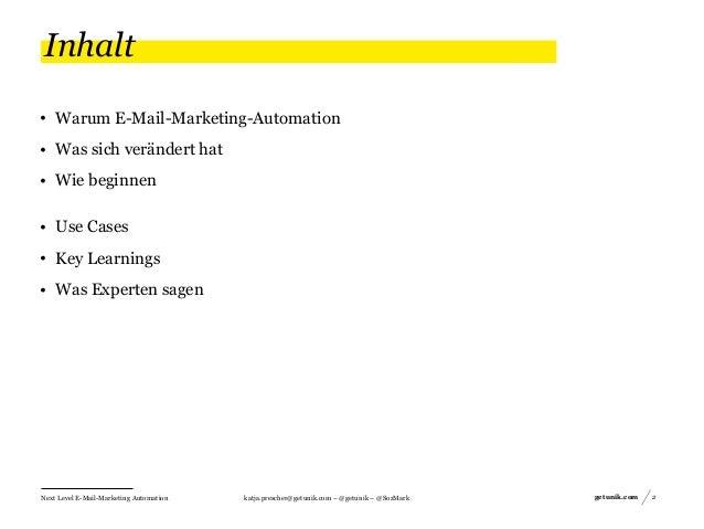 Next Level E-Mail-Marketing Automation  Vom Erstkontakt zum Spender Slide 2
