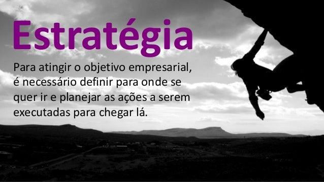 Para atingir o objetivo empresarial, é necessário definir para onde se quer ir e planejar as ações a serem executadas para...