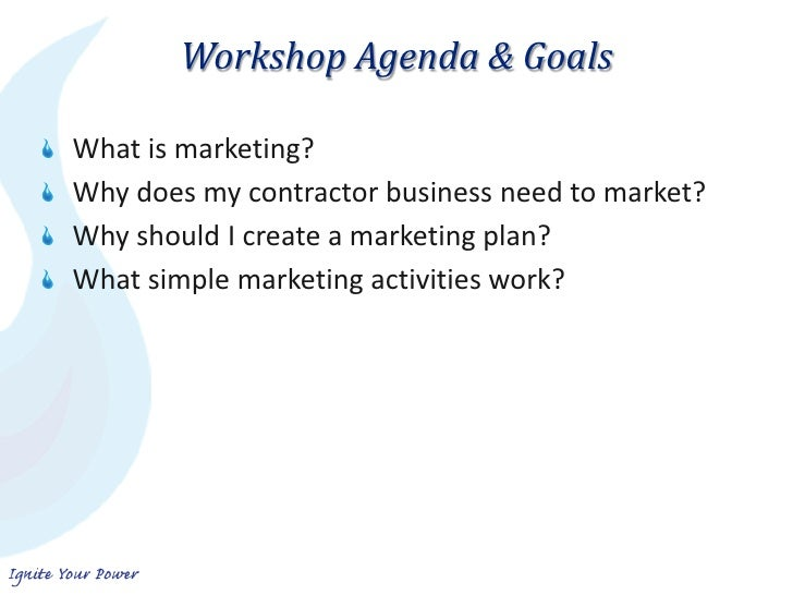 Contractor marketing basics for My contractor plan