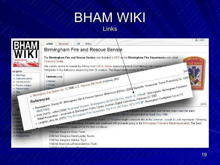 BHAM WIKI Links