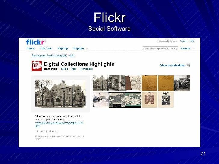 Flickr Social Software