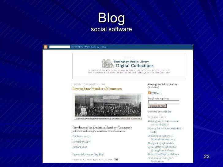 Blog social software