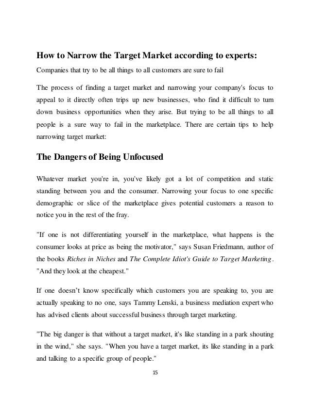 Target marketing essay