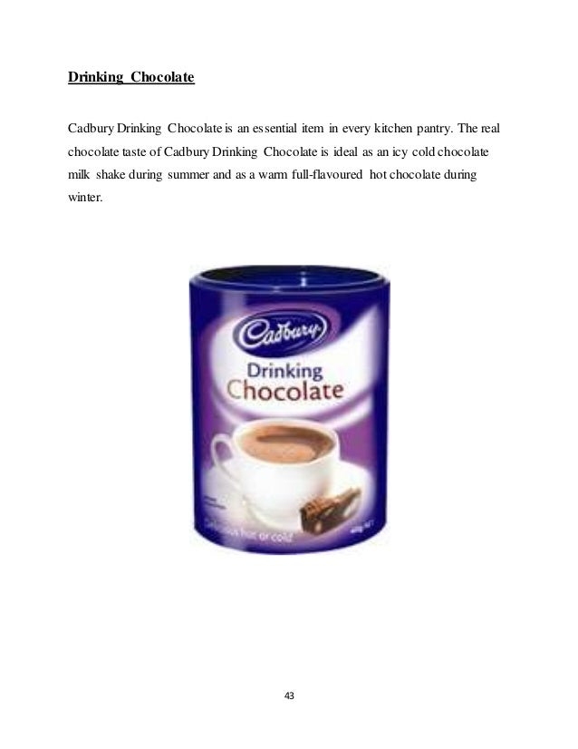 cadbury marketing Marketing principles: trading and exchange cadbury: channels, access and distribution levels purpose of a network and marketing channel ¡ value network is a system of partnerships and alliances that a firm creates to source, augment, and deliver its offerings ¡ the domestic manufacturing sites are situated at the following locations: 1.