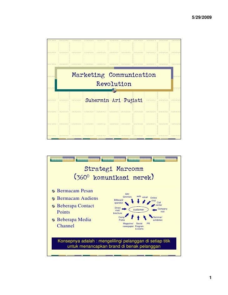 5/29/2009            Marketing Communication               Revolution                Suhermin Ari Pujiati                S...