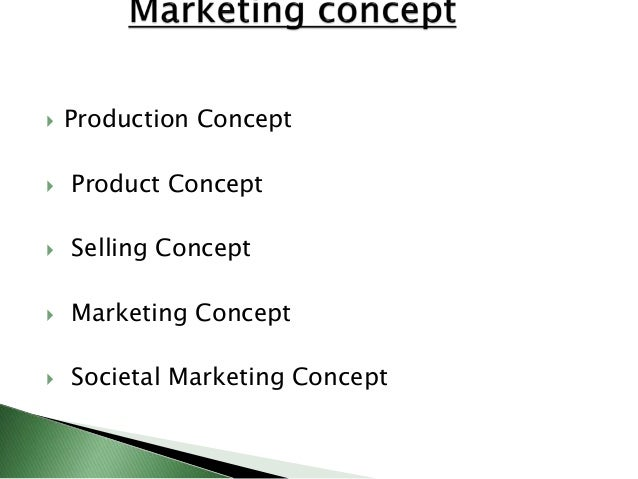 distinguish between marketing concept and selling concept Have a customer first selling begins with a product or a service, whereas  marketing begins with the customer page 2 ®market: a place where items are.