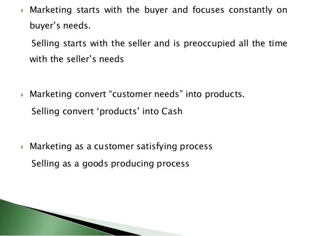 differences between product and selling concept Marketing concepts and orientations introduction the concept of marketing has evolved over time  make the product, and then sell it to the target market.