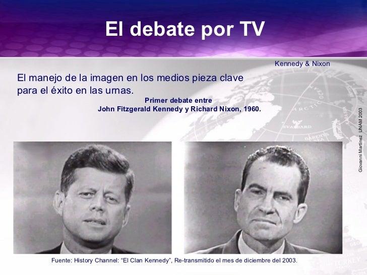 GiovanniMartínezUNAM2003 El debate por TV Kennedy & Nixon Primer debate entre John Fitzgerald Kennedy y Richard Nixon, 196...