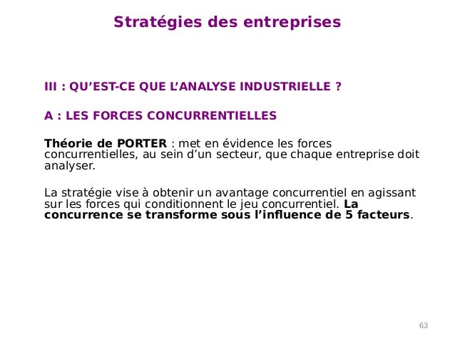 Marketing et action commerciale - Forces concurrentielles porter ...