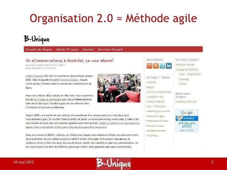 Organisation 2.0 d'évènement 1.0 Slide 3