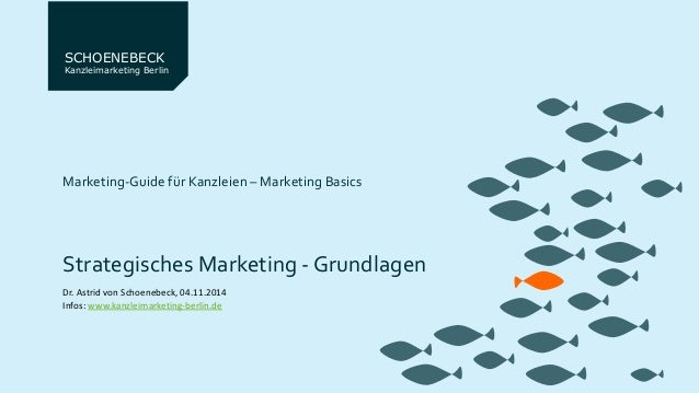 SCHOENEBECK  Kanzleimarketing Berlin  Marketing-Guide für Kanzleien – Marketing Basics  Strategisches Marketing - Grundlag...
