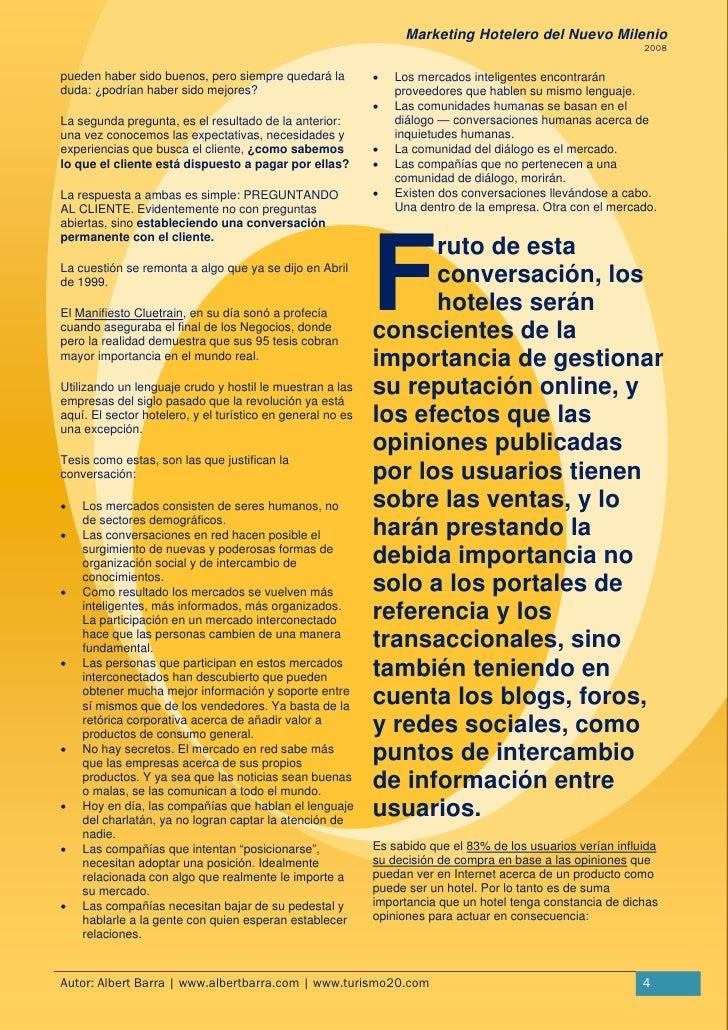 Marketing hotelero nuevo milenio for 4 milenio ultimo programa