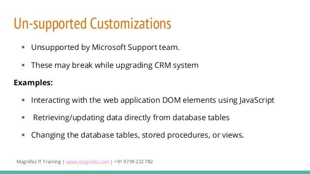 Extending Microsoft Dynamics 365 CRM