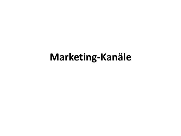 Marketing-Kanäle