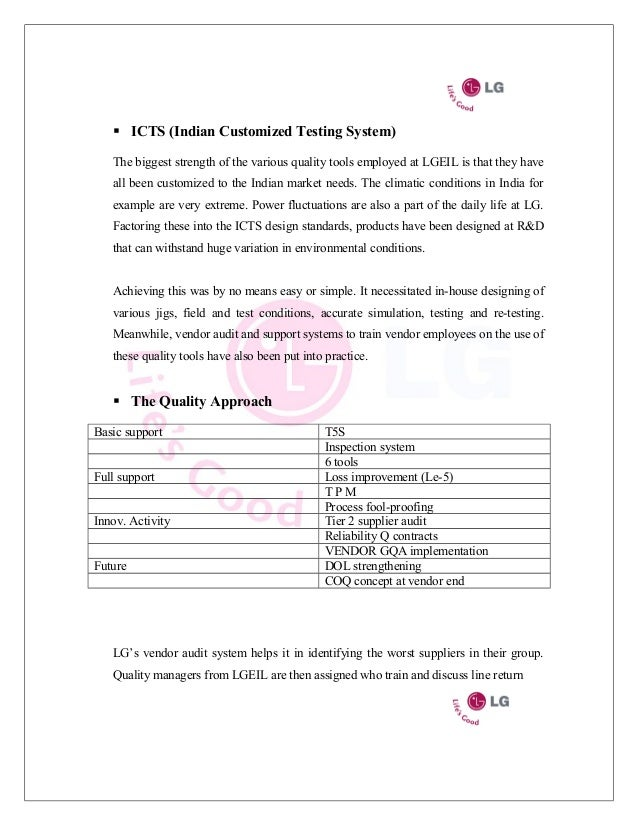 marketing environment of lg electronics Weaknesses in the swot analysis of lg electronics how the marketing environment makes it clear that a real opportunity exists for the new product reply.