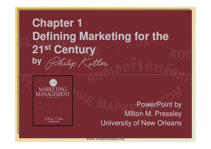 marketing mgt by philip kotler Marketing management, 14th edition  by philip t kotler, kevin lane keller  marketing management is the gold standard marketing text because its content and.