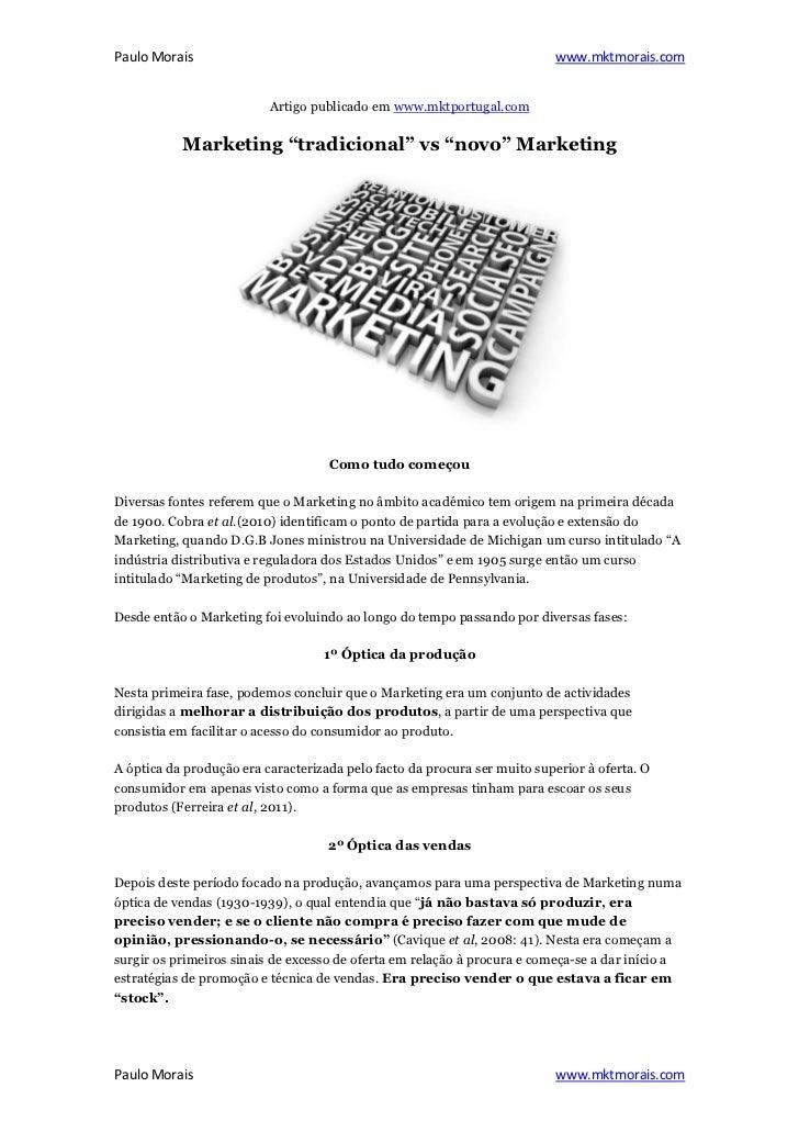 Paulo Morais                                                              www.mktmorais.com                          Artig...