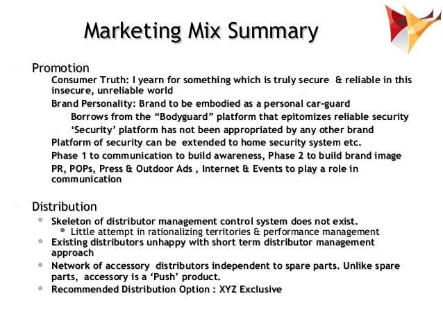 Marketing Mix ...