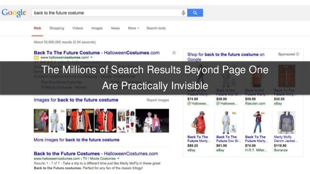 The Millions of Search Results Beyond Page One  Are Practically Invisible