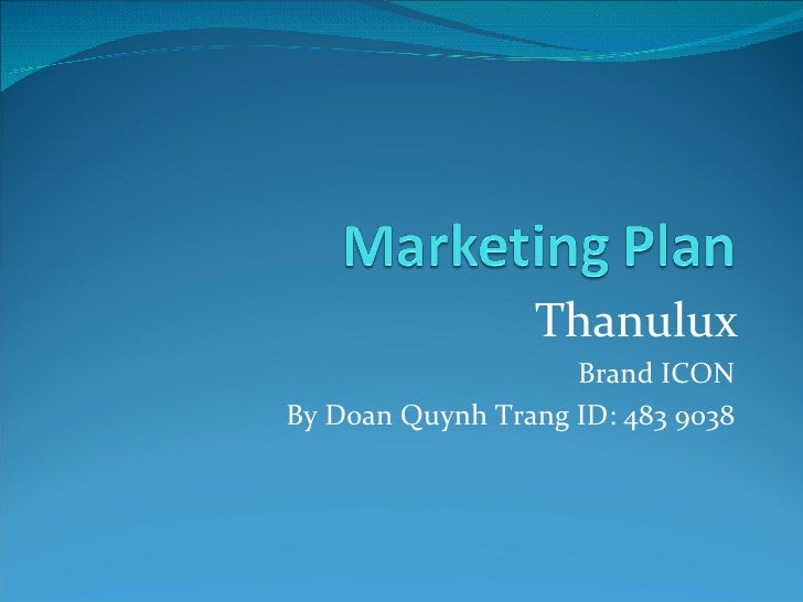 Thanulux Brand ICON By Doan Quynh Trang ID: 483 9038