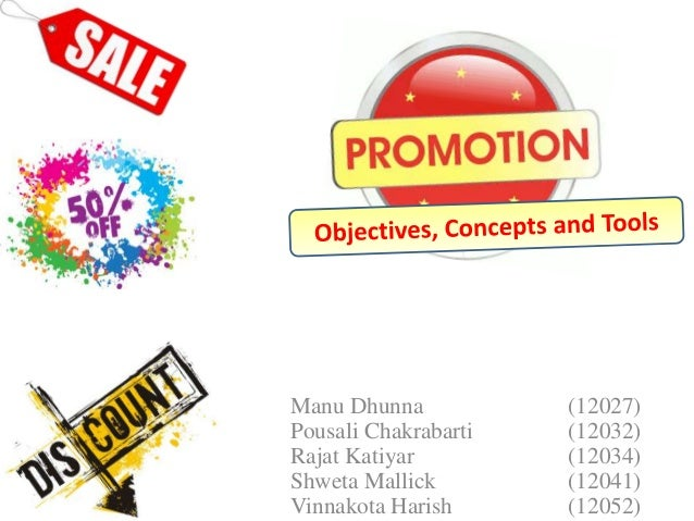 marketing promotion concept objectives and tools