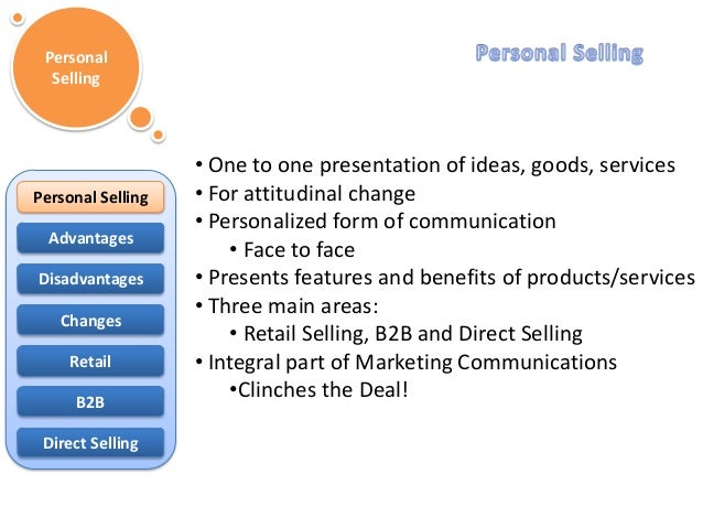 advantages of personal selling in marketing