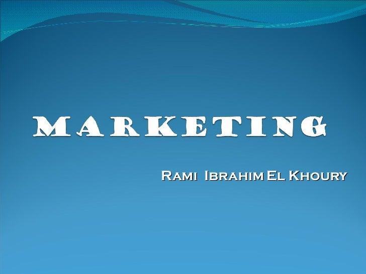 Rami  Ibrahim El Khoury