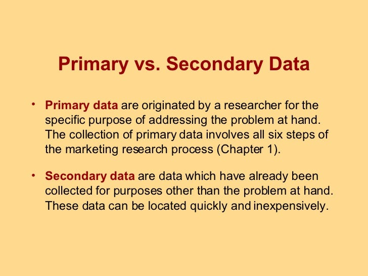 primary and secondary marketing research Secondary marketing research, or desk research, already exist in one form or another  (see also lesson on market research and primary marketing research.