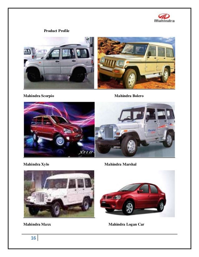 project report on customer satisfaction in mahindra scorpio Customer satisfaction towards suv'smahindra & mahindra 1 introduction customer satisfaction: customer satisfaction, a term frequently used in marketing, is a measure of how products and services supplied by a company meet or surpass  this project is done to know the level of customer's satisfaction towards mahindra and mahindra.