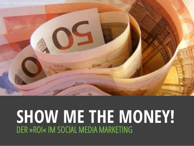 PIXABAY USER EMILIAN ROBERT VICOL SHOW ME THE MONEY! DER »ROI« IM SOCIAL MEDIA MARKETING